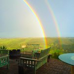 Double rainbow view from one of the decks