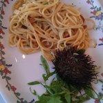 pasta in seawater
