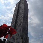 Proximity to Empire State on rooftop terrace
