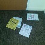local restaurant flyers litter your floor each night