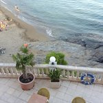 From the hotel balcony