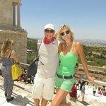 Jennifer and David Beach in Athens, Greece 2014.