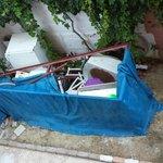 dump outside balcony
