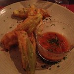 deep fried zucchini flowers