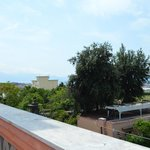 View from the roof terrace accross the Bay of Naples