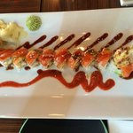 Tiger Roll - with 2 tempura shrimp and two sauces, hot and sweet