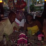 At the Suprise Birthday Dinner