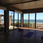 View from inside yoga shall