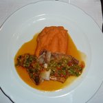 Red fish with sweet potato