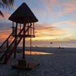 Een heerlijk avond je op het strand na een dagje strand