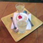 Limoncino and panna cotta