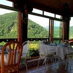 Desayuno en el porche
