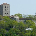 The Cloisters viewed from the Hudson River