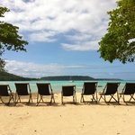 complimentary deck chairs
