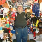 Capt. Ron displays his Sunny Puppets