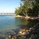 Swimming beach near Dewey Short visitor's center