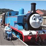 Rose with Thomas the Tank engine