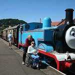 Rose and I with Thomas the Tank engine