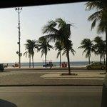 Copacabana,foto tirada de dentro da Van , muito confortável.