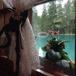 La vista dal ristorante sul lago..