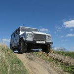 Land Rover Defender on the 4x4 off-road course