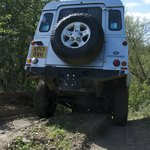 Land Rover Defender on our 4x4 off-road driving course