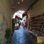 rue typique Sorrento - les artisans