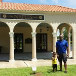 Outside of the Naples Depot Museum...