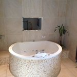 Spa bath and TV