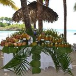 Coconuts and pineapples, filled with your choice of cocktail