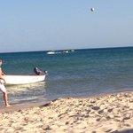 La plage très propre