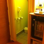 Entrada da casinha do vaso sanitário