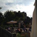 terrasse avec vue sur le château