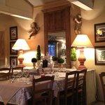 Inside the Villa restaurant in the Balneo complex