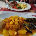 Gorgeous meals in Gambrinus 2 minute walk away