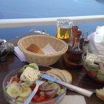 Déjeuner salade grecque