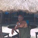 Enjoying a margarita after snorkeling