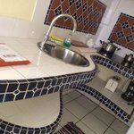 Kitchenette with beautiful tiling