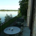 Vue de la chambre sur la Saône