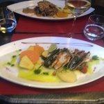Plat : poissons grillés au piment d'espelette