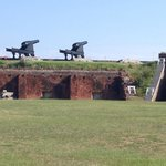 Cannons on the fort walls