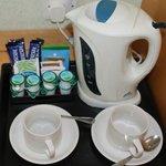 tea/coffee making facility in room 76
