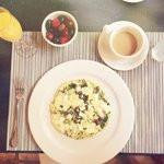 Spinach and mushroom fritta