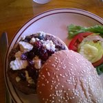 Blue Cheese and Cherry Burger-Dinner special