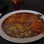 Smothered Chili Relleno Plate--heavenly!