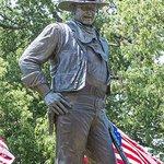 John Wayne Statue Next to the Museum