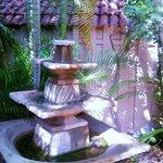 Fountain and gardens
