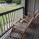 small porch/balcony off each room