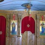 Inside the little chapel