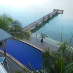 View from our balcony looking down to the pool